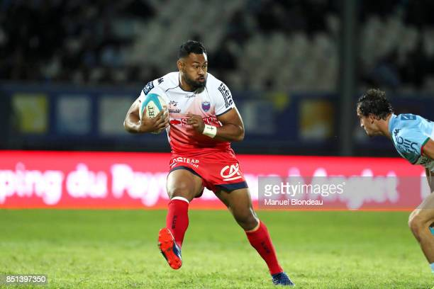 Parataiso Silafai Leaana of Grenoble during the French Pro D2 match between Aviron Bayonnais and Grenoble on September 21 2017 in Bayonne France