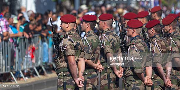 Paratroopers during Bastille Day