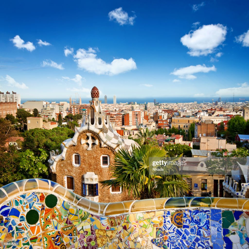 parc guell barcelona stock photo getty images