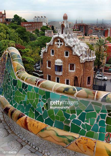 Parc Guell by Gaudi Barcelona Spain