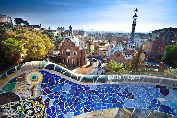 Parc Guell by Gaudi in Barcelona, Spain