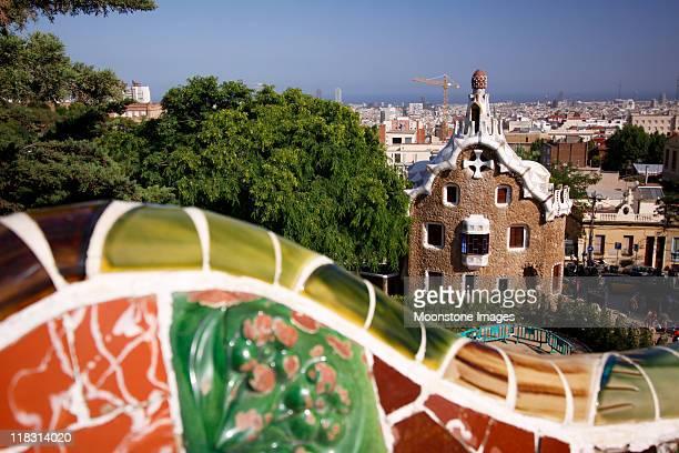 Parque güell en Barcelona, España