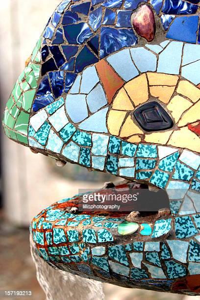 Parc Guell Lizard Fountain Gaudi Barcelona