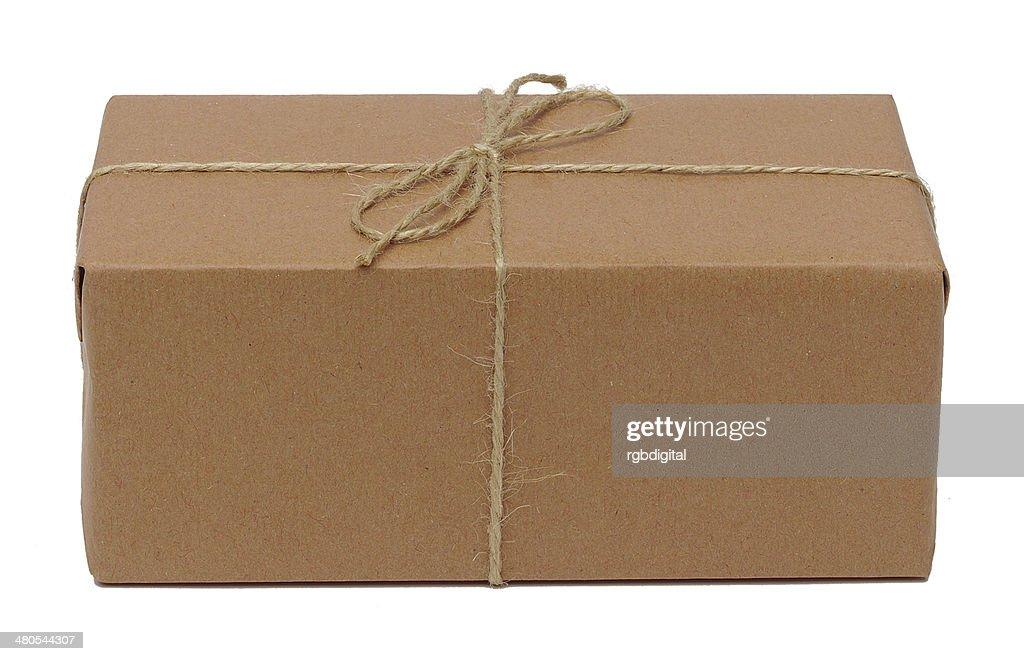Paket in Packpapier : Stock-Foto