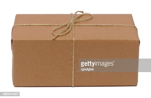 Parcel in brown paper : Stock Photo