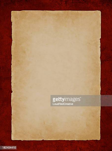 parchment on red