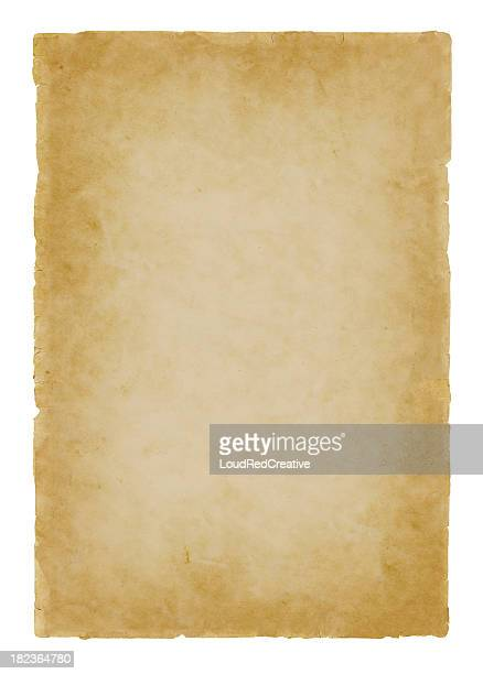 parchment paper on white