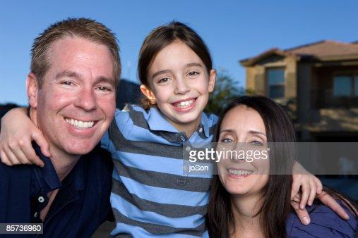 Parent and child, smiling, portrait : Stock Photo