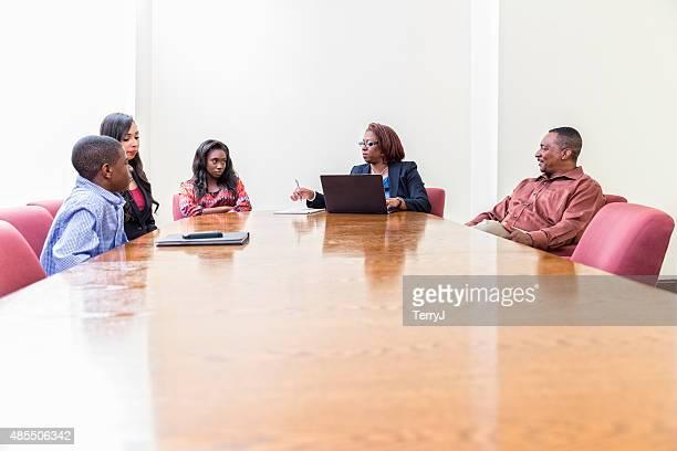 Parent Teacher Meeting with Children
