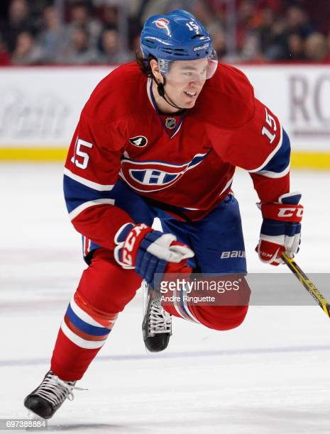 A Parenteau of the Montreal Canadiens plays in the game against the Los Angeles Kings at the Bell Centre on December 12 2014 in Montreal Quebec Canada
