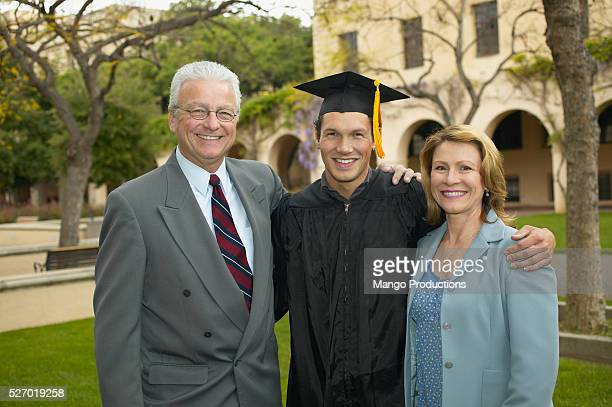 Parents and Son at Graduation