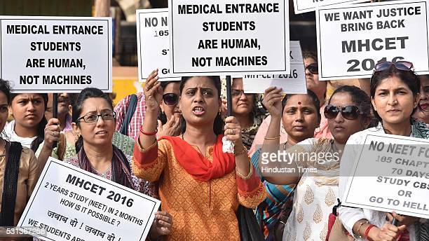 Parents and students stage protest march against Education division's decision of NEET exam in 2016 year demanding not taking NEET Exam on 2016 year...