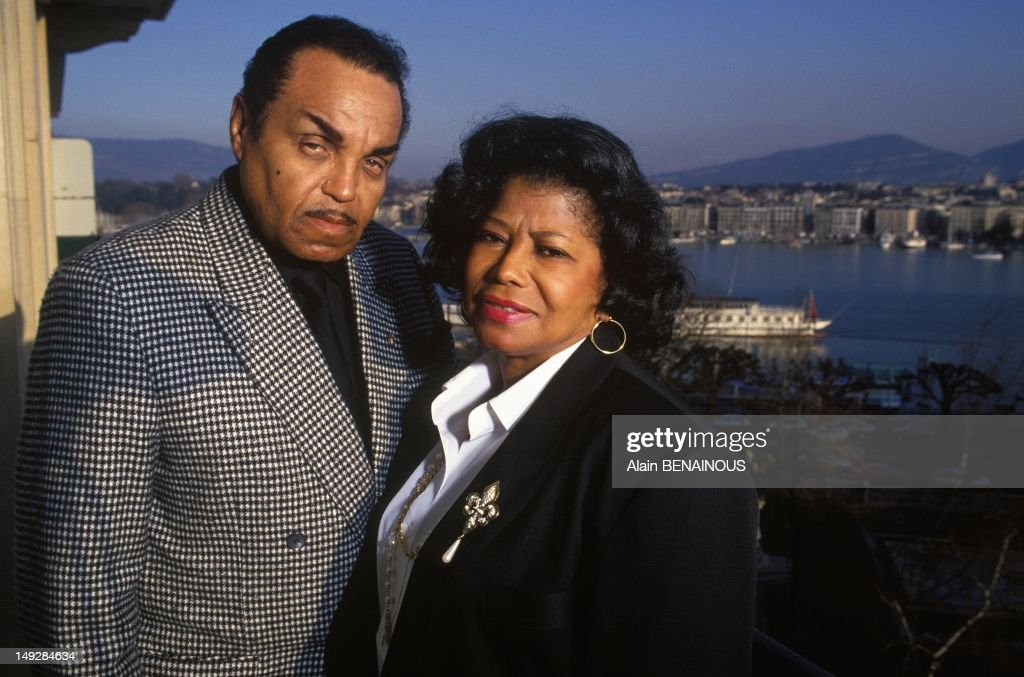 Parents Joseph And <a gi-track='captionPersonalityLinkClicked' href=/galleries/search?phrase=Katherine+Jackson&family=editorial&specificpeople=201779 ng-click='$event.stopPropagation()'>Katherine Jackson</a> on March 20, 1993 in Geneva, Switzerland.