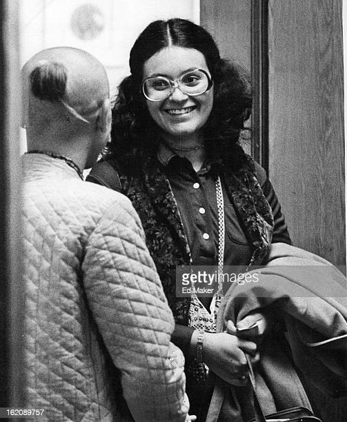 APR 17 1979 Parents Lose Bid At Guardianship Fran Agliata smiles left at the president of the local Hare Krishna chapter after she was found ½...