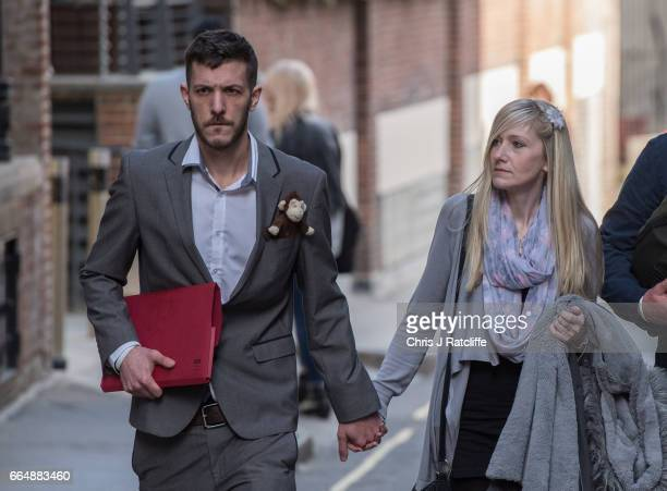 Parents of Charlie Gard Chris Gard and Connie Yates leave the Royal Courts of Justice on April 5 2017 in London United Kingdom The crowdfunding...