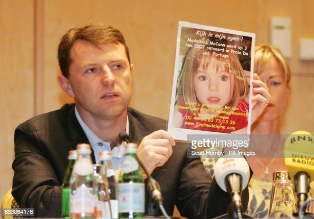Parents of missing child Madeleine McCann Gerry and Kate give press conference at The Amsterdam Hilton on the final leg of there 2 day trip in Europe...
