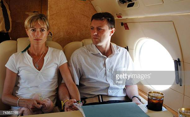 Parents of missing fouryearold Madeleine McCann Kate and Gerry McCann si on board a private jet owned by Sir Philip Green bound for Rome and an...