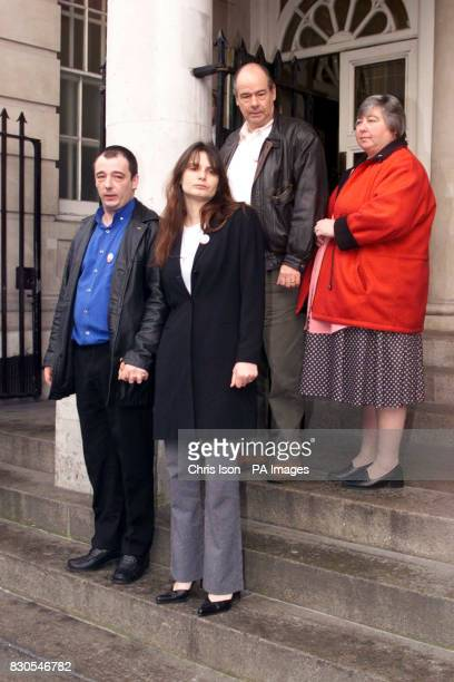 Parents of murdered eightyearold Sarah Payne Sara and Michael Payne at Lewes Crown Court together with the youngster's grandparents Terry and Lesley...