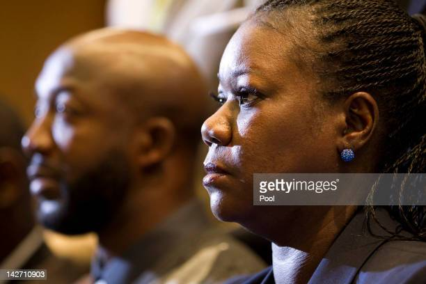 Parents of Trayvon Martin who was fatally shot by neighborhood watch captain George Zimmerman in Florida mother Sybrina Fulton and Tracy Martin watch...