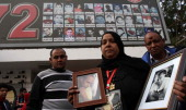 Parents of victims of the massacre of Port Said Stadium gather in Mokhtar ElTetsh Stadium in Cairo on February 1 to mark the second anniversary of...