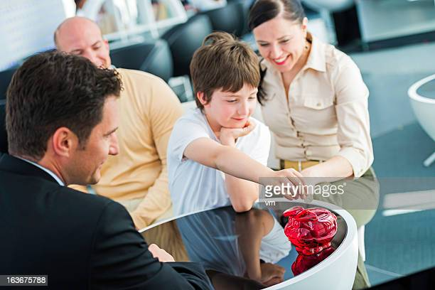 Parents Opening Bank Account For Their Child