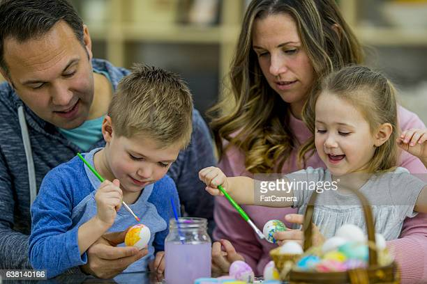 Parents Painting with Their Kids