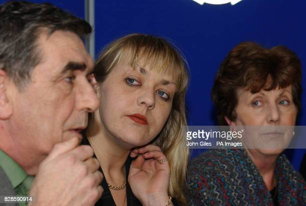 Parents Ray and Wanda and the sister Vanda of missing 21yearold Rachel Moran at a Press Conference at Hull police station Rachel went missing in the...