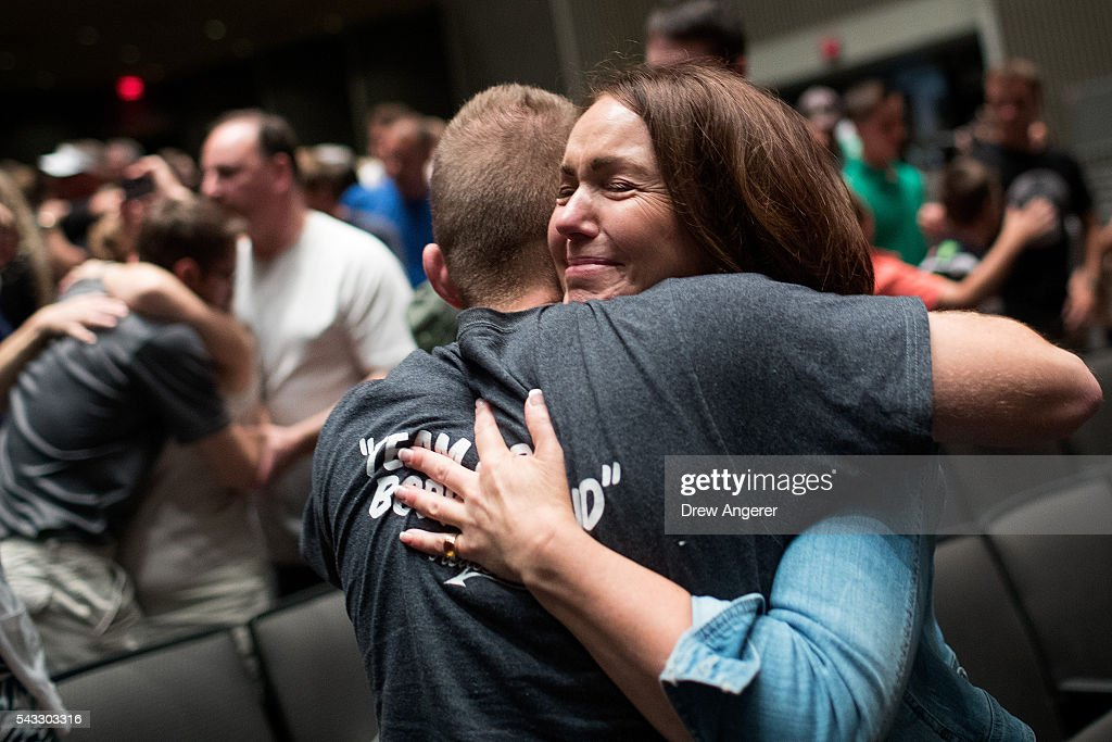 Parents say goodbye to their children as the cadet candidates begin the in-processing procedures during Reception Day at the United States Military Academy at West Point, June 27, 2016 in West Point, New York. Reception Day is the day when new cadets report to West Point to begin the process of becoming West Point cadets and future U.S. Army officers. Upwards of 1,300 cadet candidates for the class of 2020 will report to West Point on Monday. The new cadets will begin six weeks of basic training before Acceptance Day in early August.