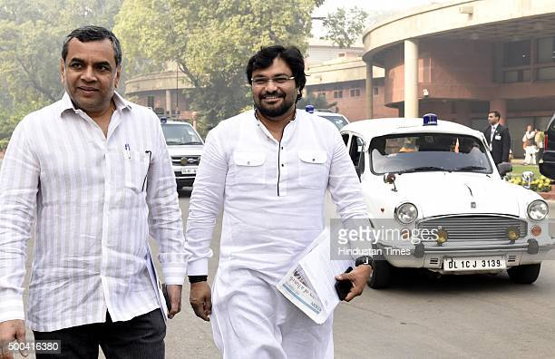 Paresh Rawal and Babul Supriyo Minister of State for Urban Development and for Housing and Urban Poverty Alleviation after BJP Parliamentary board...