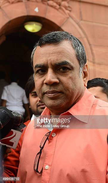 Paresh Rawal at the Winter Session of Parliament in New Delhi