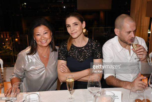 Paris 8th district mayor Jeanne d'Hauteserre Clotilde Courau and a guest attend Amnesty International 'Musique Contre L'Oubli' Gala Ceremony after...