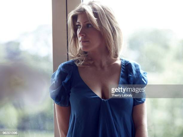 actress Amanda Sthers poses at a portrait session for Madame Figaro in Paris on April 28 2008
