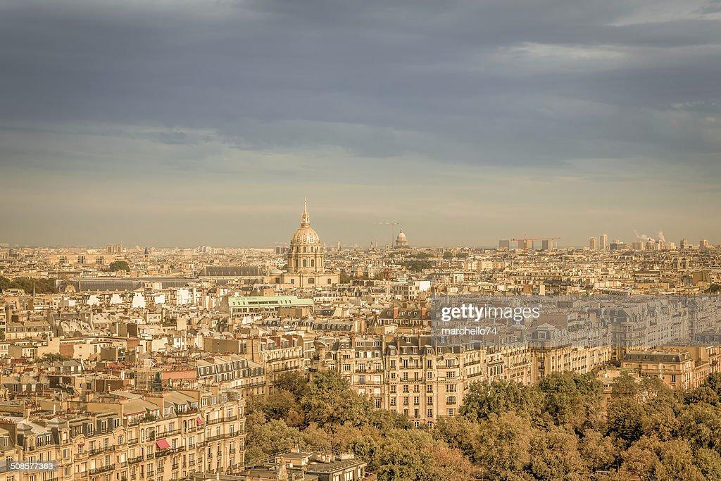 Paris aerial view : Stockfoto