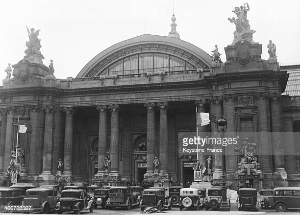 Paris Auto Show at the Grand Palais in September 1929 in Paris France