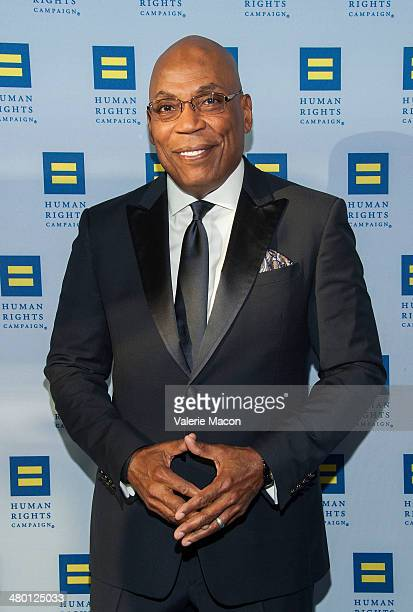 Paris Barclay arrives at the Human Rights Campaign Los Angeles Gala Dinner at JW Marriott Los Angeles at LA LIVE on March 22 2014 in Los Angeles...