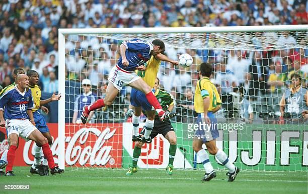 FRANCE 1998 FINALE Paris BRASILIEN FRANKREICH 03 TOR zum 01 durch Zinedine ZIDANE/FRA