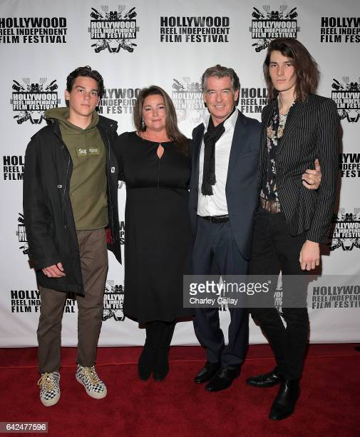 Paris Brosnan director of HRIFF's Best Documentary Film 'Poisoning Paradise' Keely Shaye Brosnan Executive Producer Pierce Brosnan and Dylan Brosnan...