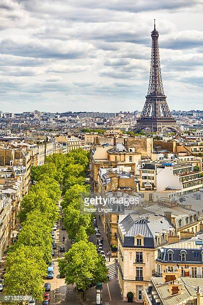 Paris City Skyline view,Paris
