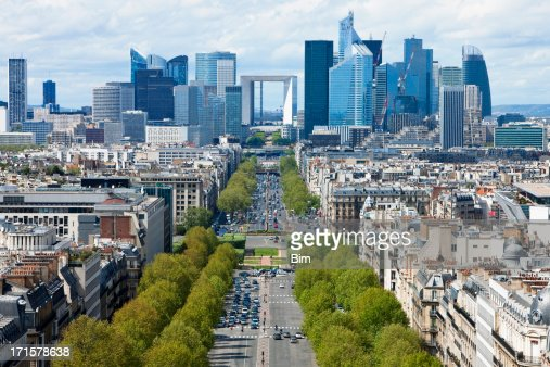 Paris City View Towards La Defense Financial District
