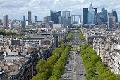 'Paris City View with La Defense Financial District, France'