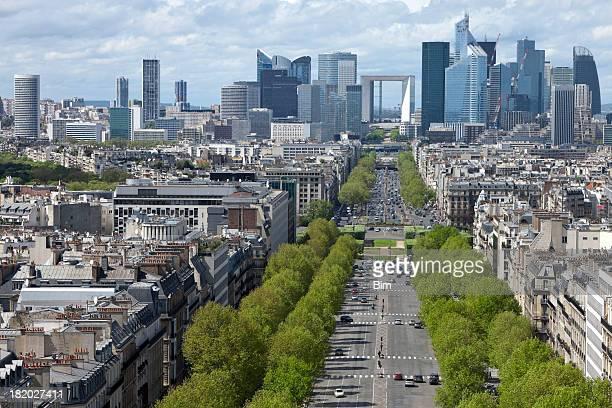 Vue sur La ville de Paris et de La défense du quartier des finances, France