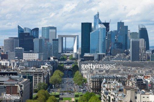 Paris City View with La Defense Financial District
