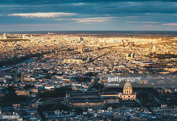 Paris Cityscape At Sunset