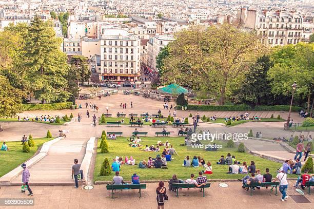 Paris Cityscape from Montmatre
