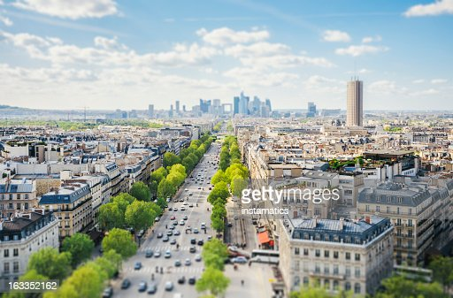 Paris cityscape - Tilt-Shift