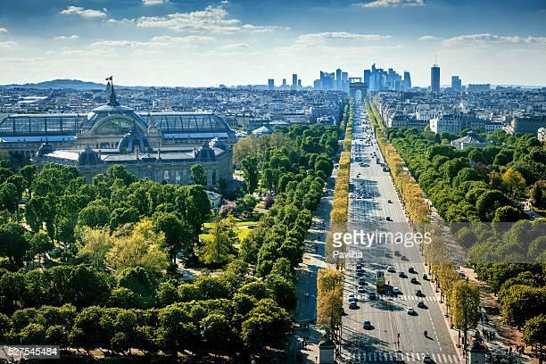 Paris cityscape,Avenue de la Grande Armee,France
