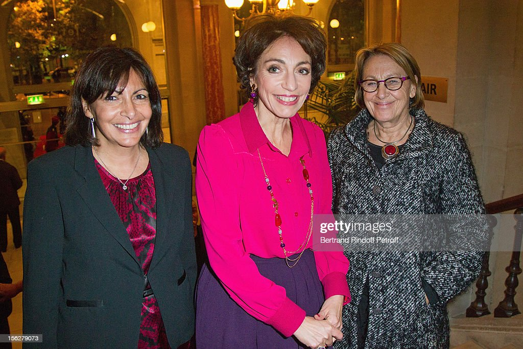 Paris deputy Mayor Anne Hidalgo, Marisol Touraine, Minister of Social Affairs and Health, and Marylise Lebranchu, Minister of State Reform, Decentralization and Public Service, attend the Gala de l'Espoir charity event against cancer at Theatre du Chatelet on November 12, 2012 in Paris, France.