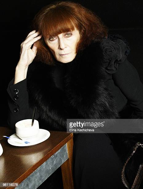 Designer Sonia Rykiel poses at a portrait session for Self Assignment in Paris on March 3 20 2007