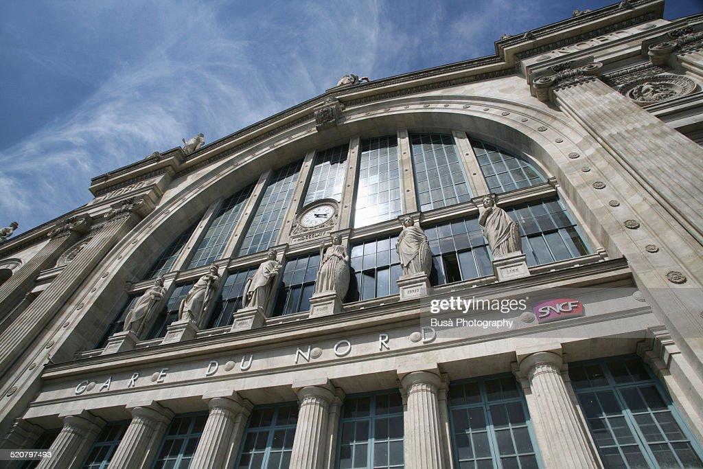 Paris, entrance of Gare du Nord
