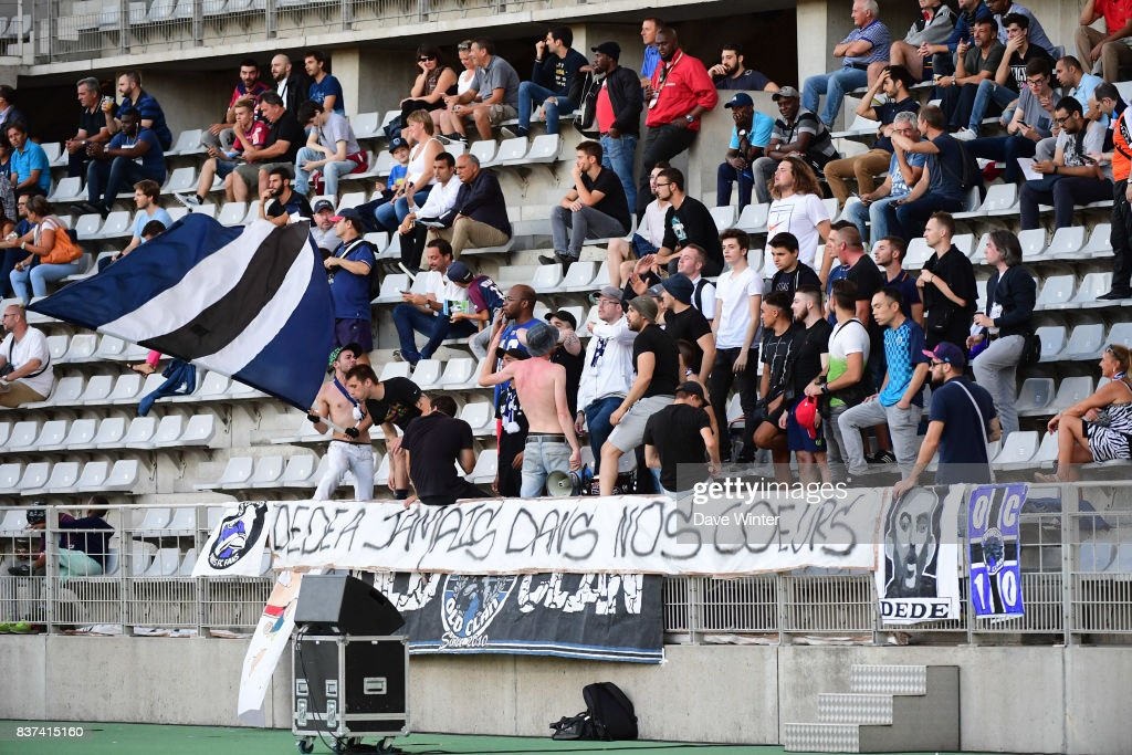 Paris FC fans during the French League Cup match between Paris FC and Clermont Foot at Stade Charlety on August 22, 2017 in Paris, France.